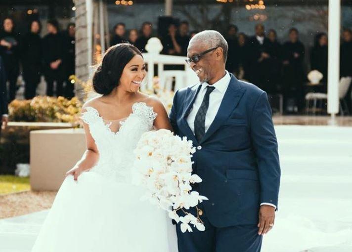 Minnie Dlamini and her dad
