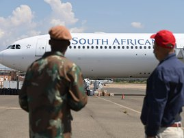 SAA flight in Polokwane