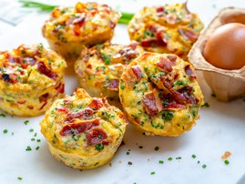 Left-over meat muffins