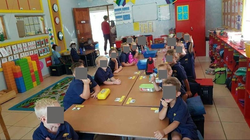 South Africa teacher suspended over class 'split by race'
