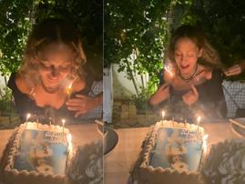 WATCH: Nicole Richie's 40th birthday was lit...literally!