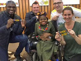 Nokwethemba gets a new wheelchair