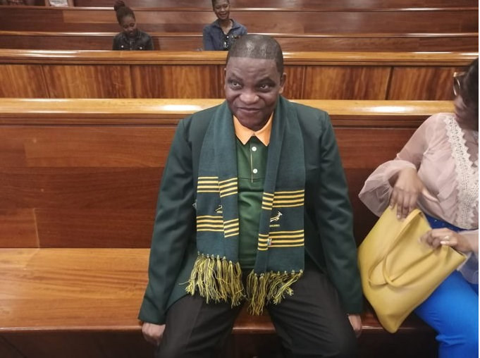 Omotoso at court in Springbok jersey