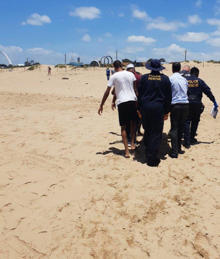 man suffers heart attack on beachfront