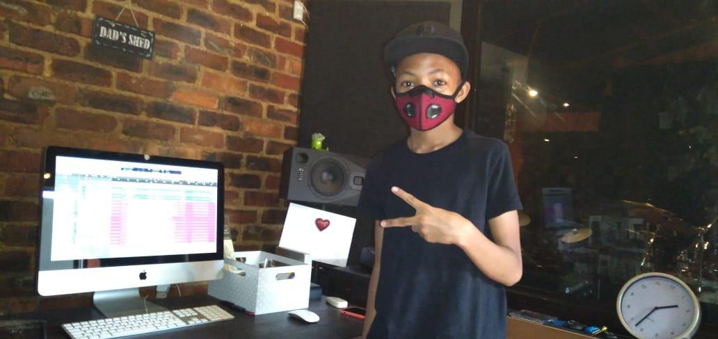 Dominic in studio