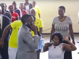 "WATCH : Pastor claims to be ""on a phonecall with God"""