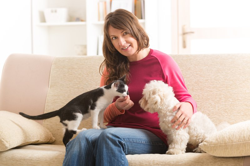 Pet and owner