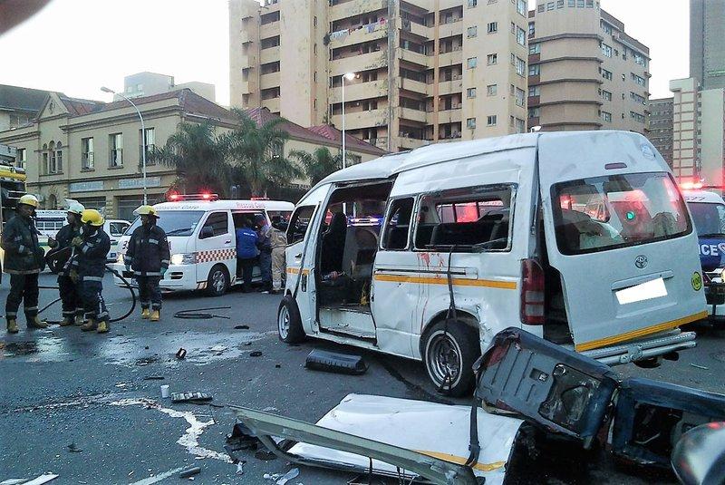 One killed, 15 hurt in Durban CBD crash