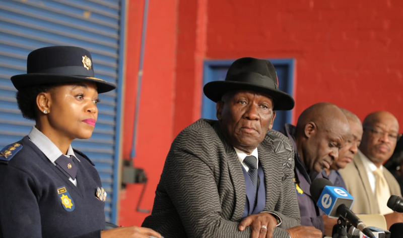 Bheki Cele in CPT following killings