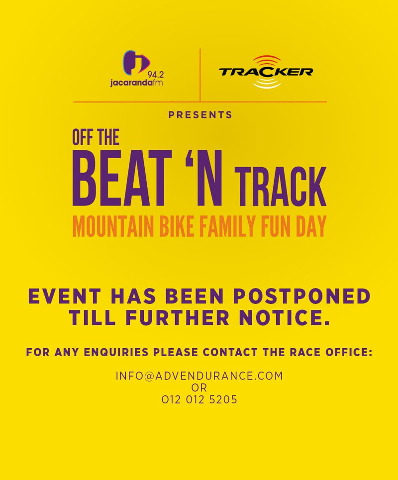 Off The Beat 'N Track Postponed event page image