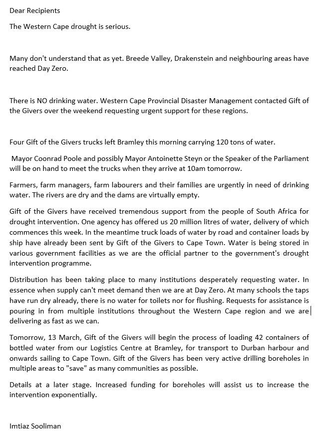 GOTG Press statement