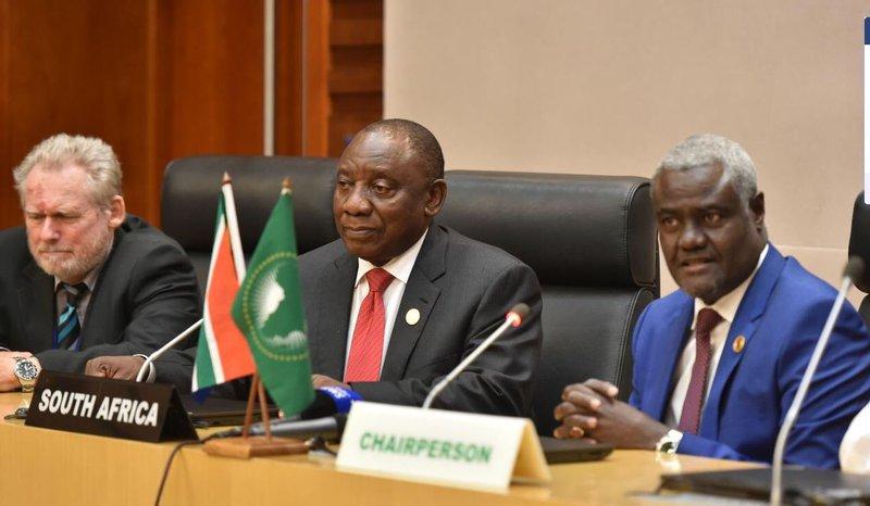 Ramaphosa at AU summit 2019