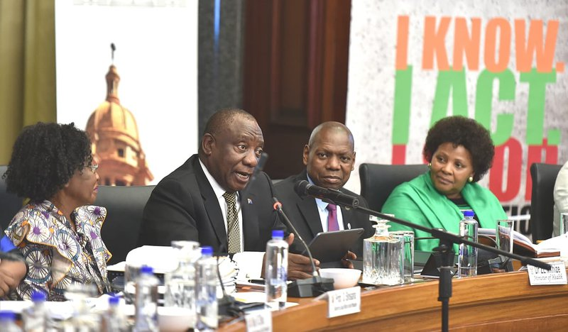 Ramaphosa at health