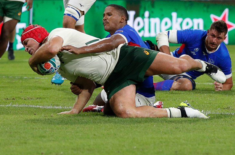 South Africa power past Namibia; polish missing