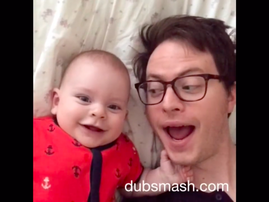 a Dubsmashing dad-and-son duo