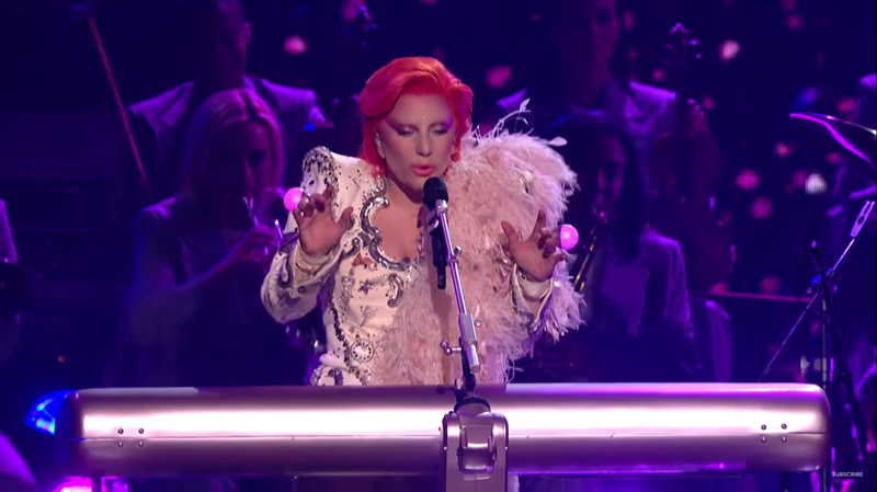 Lady Gaga - David Bowie tribute at 2016 Grammys