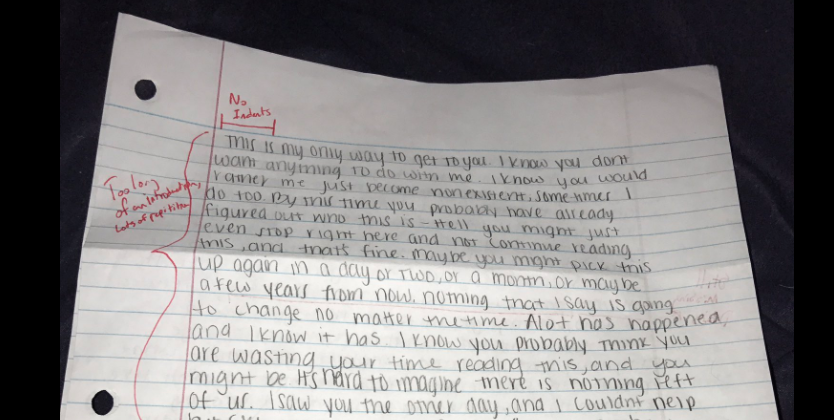 Guy goes back to school to respond to his ex's apology letter