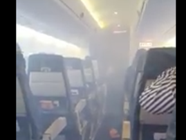 nigeria smoke fills plane
