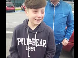 grandparents pull surpirse for grandson