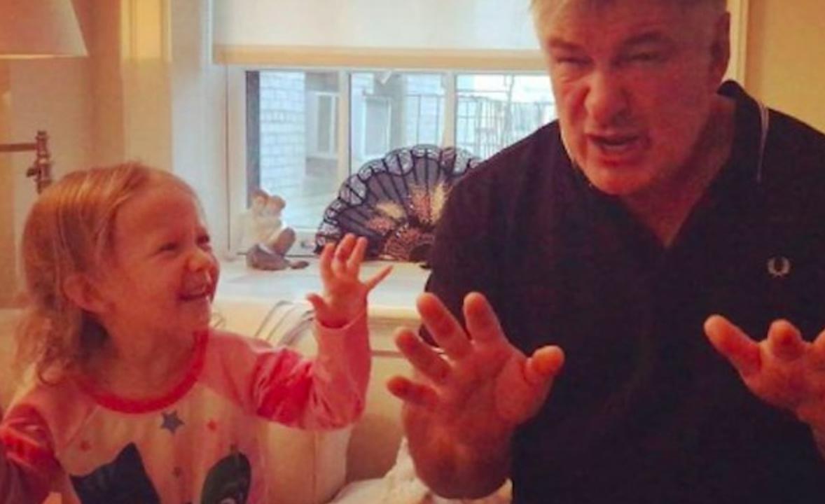 alec baldwin teaches his daughter