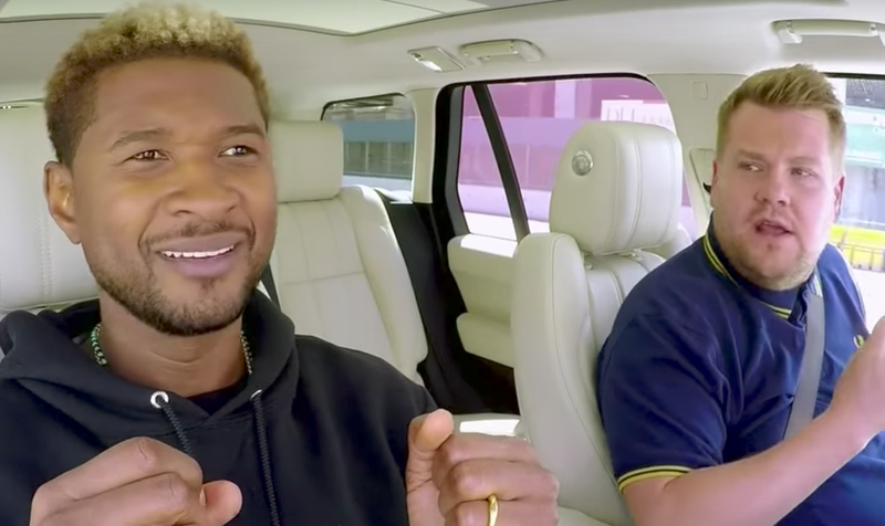 usher and james corden