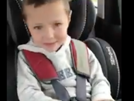 cute kid doesn't realise there are swear words in song