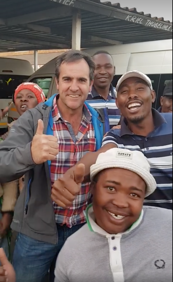 Taxi drivers come to a farmers rescue