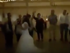 Bride raps to her favourite song during wedding reception