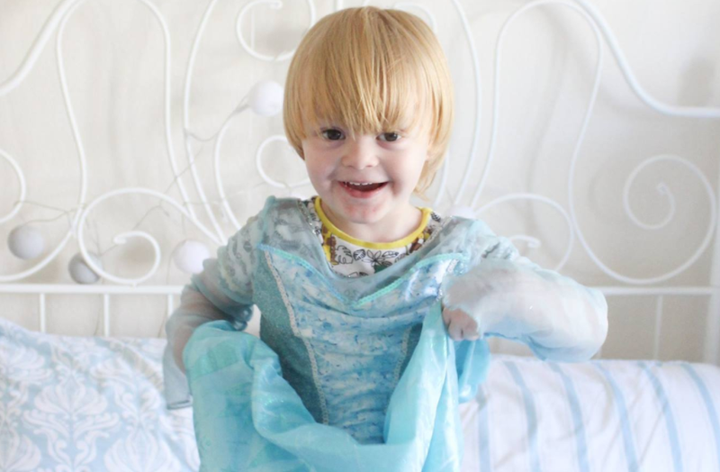disney princess makeover for son