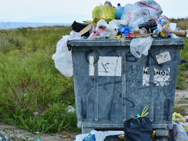 rubbish overflowing pixabay