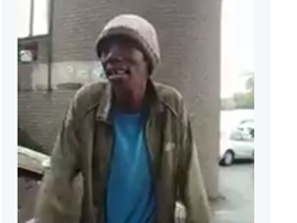 homeless man sings