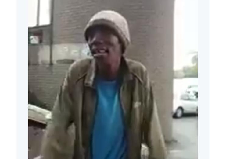 homeless man sings