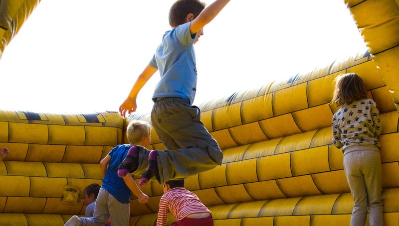 kids in jumping castle pexels