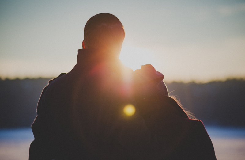 couple with backs facing to camera pexels