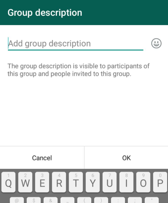 group description whatsapp