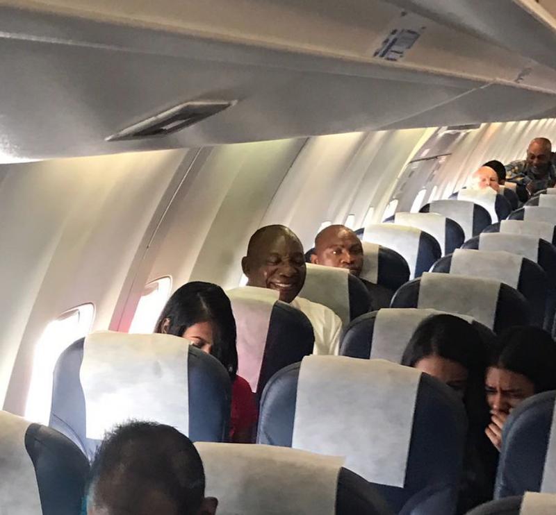 President flies economy