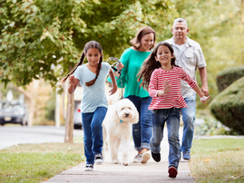 iStock - Walking with kids