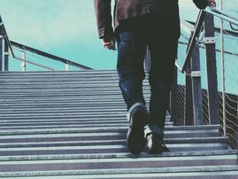 walking up stairs pexels