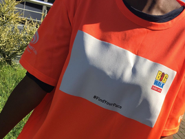 big walk t-shirt orange