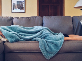 person sleeping couch pic