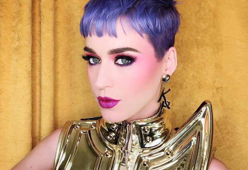 katy perry purple hair instagram pic