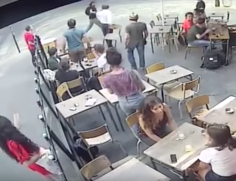 Woman punched in face