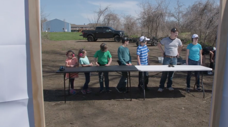 Kids learn how to shoot