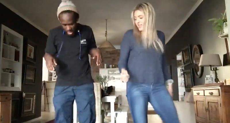 Katinka Oosthuizen dancing