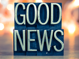 Good News Concept Metal Letterpress Type good news istock