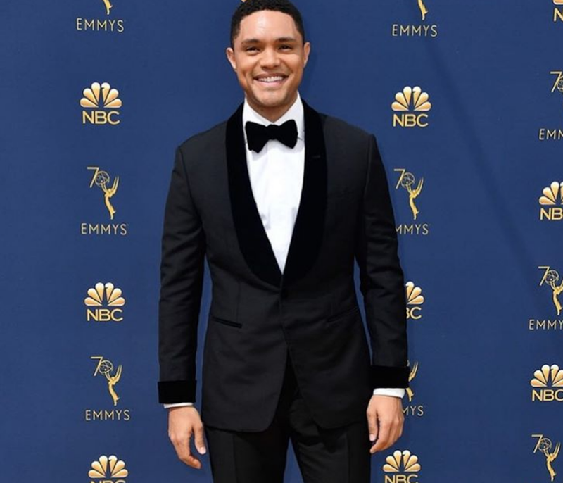 Trevor Noah behind the scenes of the Emmy's 3