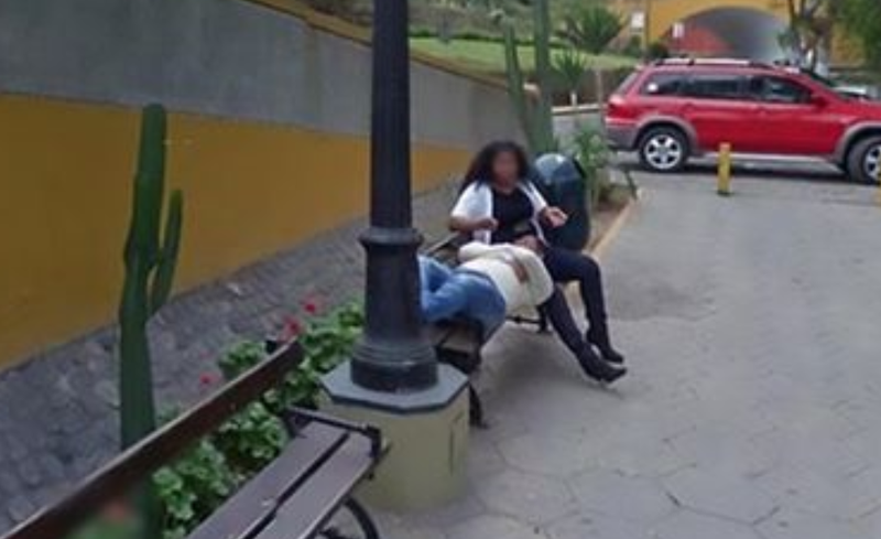 Busted! 'Cheating' woman caught out thanks to Google Maps on caught on bing street view, captured on google street view, murder on google street view, dead body on google street view, funny google street view,