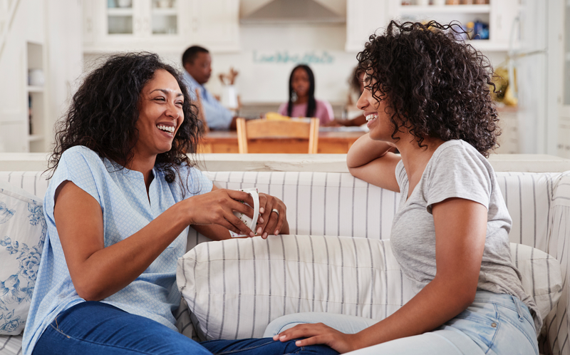 friends on the couch istock