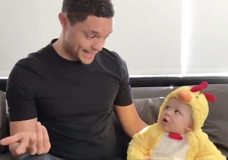 trevor noah with baby pic