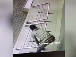 Man stealing wheelchair ramp